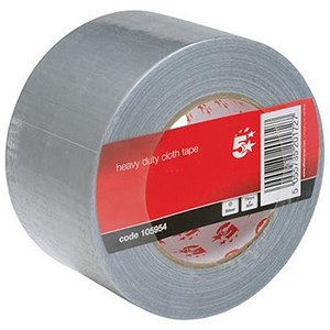 Image of 5 Star Heavy/Duty Cloth Tape Roll / 75mmx50m / Silver