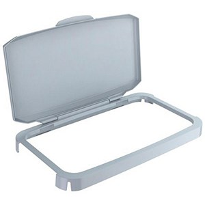 Image of Durabin Clip-on Hinged Lid For 60 Litre Bin - Grey