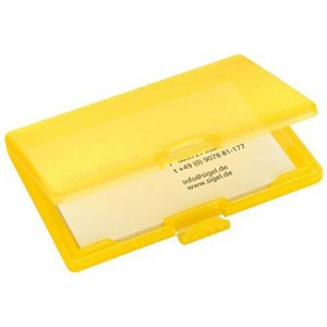Image of Sigel Coolori Business Card Case / Plastic / Clip Fastener / 71x101x13mm / Yellow
