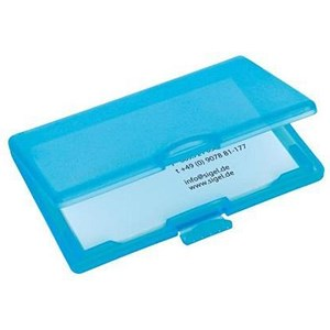 Image of Sigel Coolori Business Card Case / Plastic / Clip Fastener / 71x101x13mm / Blue