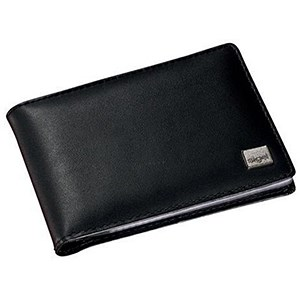 Image of Sigel Torino Business Card Holder / Leather / 20 Clear Pockets / 75x110x16mm / Black