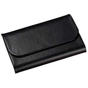 Image of Sigel Torino Business Card Case / Leather / 25 Card Capacity / 65x102x15mm / Magnetic Closure / Black
