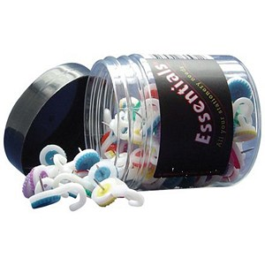 Image of Hook Push Pins / Assorted Colours / Tub of 100