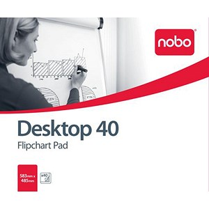 Image of Nobo Barracuda Desktop Flipchart Pad / 40 Sheets / B1 / 583x485mm