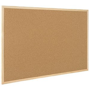 Image of Bi-Office Double Sided Cork and Felt NoticeBoard - 900x600mm