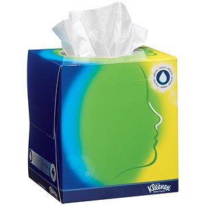 Image of Kleenex Facial Tissue Cubes / White / 12 Cubes