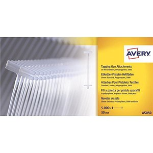Image of Avery Tagging Gun Attachments 50mm / AS050 / Pack of 5000