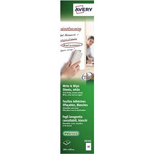 Image of Avery Write and Wipe / A2 Sheets / 70703 / 2 Sheets