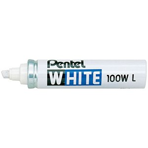 Image of Pentel Permanent Marker / Chisel Tip / White / Pack of 12