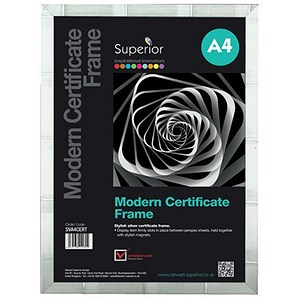 Image of Certificate Frame A4 Silver Ref SVCF-A4
