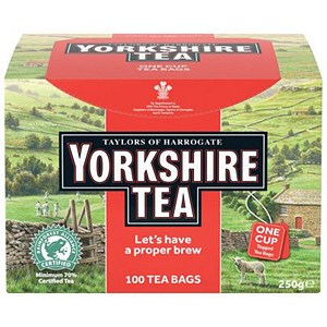 Image of Yorkshire Tea Naked / String and Tag Tea Bags / Pack of 100
