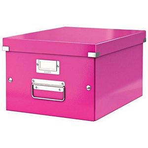 Image of Leitz WOW Click & Store Medium Storage Box / A4 / Pink
