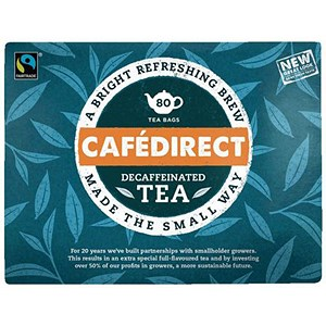 Image of Cafe Direct Handpicked Decaffeinated Everyday Tea Bags - Pack of 80