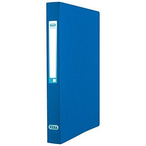 Image of Elba Eurofolio Ring Binder / 2 O-Ring / 40mm Spine / 25 mm Capacity / A4 / Blue / Pack of 10