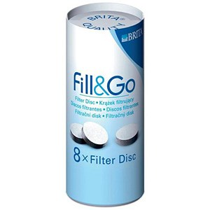 Image of Brita Fill and Go Filter Refill Discs - Pack of 8