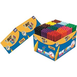 Image of Bic Visa Felt Class Pack / Assorted Colours / Pack of 288