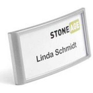 Image of Durable Classic Name Badge / Combi Clip / 34x74mm / Pack of 10