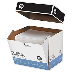 Image of HP A4 Multifunction Office Paper / White / 80gsm / Non-Stop Box (2500 Sheets)