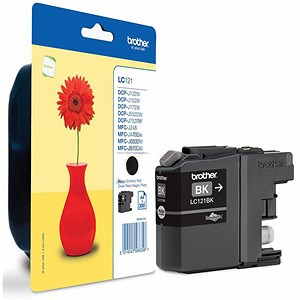 Image of Brother LC121BK Black Inkjet Cartridge