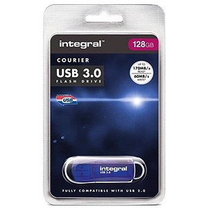 Image of Integral Courier USB 3.0 Flash Drive - 128GB