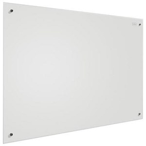 Image of Nobo Glass Magnetic Drywipe Board with Pen Tray / 600x900mm / White