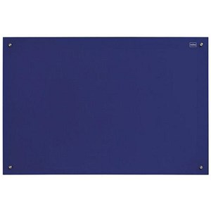 Image of Nobo Glass Magnetic Drywipe Board with Pen Tray / 600x900mm / Blue
