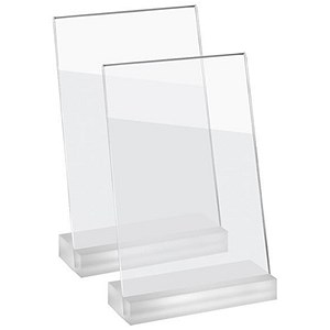 Image of Sigel Frozenacrylic Table Top Display Frame / Slanted / A5 / Pack of 2