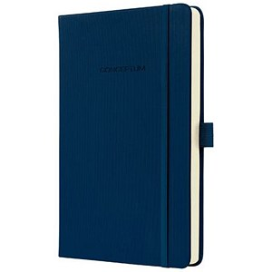 Image of Sigel Conceptum Hard Cover Notebook / A5 / Ruled / 194 Pages / Blue