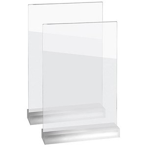 Image of Sigel Frozenacrylic Table Top Display Frame / Straight / A4 / Pack of 2