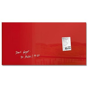 Image of Sigel Artverum Tempered Glass Board / Magnetic / W910xH460mm / Red