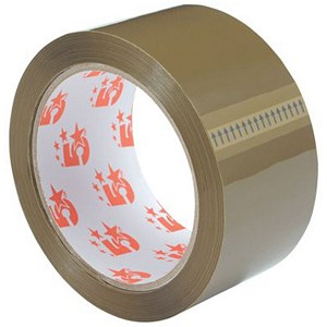 Image of 5 Star Packaging Tape / 50mmx66m / Buff / Pack of 12