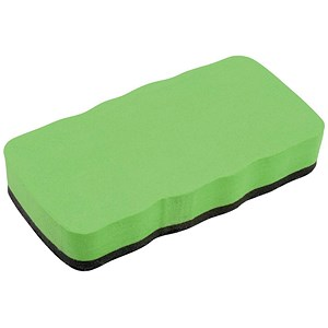 Image of 5 Star Drywipe Magnetic Eraser - Lime Green