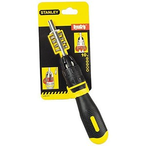 Image of Stanley Multi Ratchet Screwdriver With 10 Bits