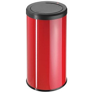 Image of Big Bin Touch Round Stainless Steel and Coated Sheet Steel 45 Litre Red Ref 0845-150