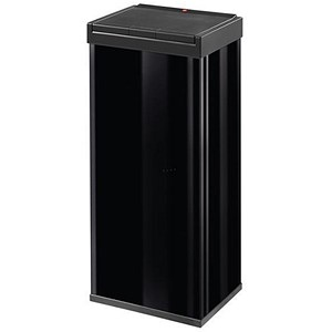Image of Big Bin Touch Steel and Impact-resistant Plastic Flat Packed 60 Litre Black Ref 0860-701