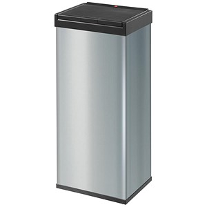 Image of Big Bin Touch High Strength Impact Resistant Plastic Flat Packed 60 Litre Silver Ref 0860-601