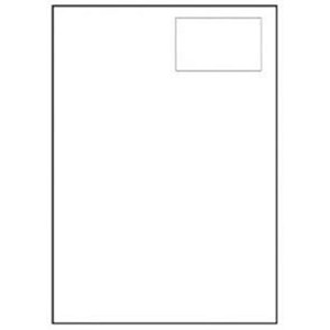 Image of Avery Integrated Single Label Sheet / 96x64mm / White / L4830 / 1000 Sheets
