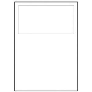 Image of Avery Integrated Single Label Sheet / 190x90mm / White / L4834 / 1000 Sheets