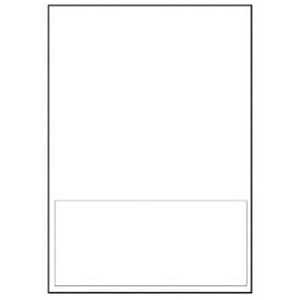 Image of Avery Integrated Single Label Sheet / Perforated / 190x90mm / White / L4835 / 1000 Sheets