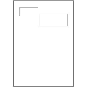 Image of Avery Integrated Double Label Sheet / 100x45mm and 64x32mm / White / L4842 / 1000 Sheets