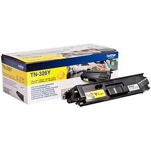 Image of Brother TN326Y High Yield Yellow Laser Toner Cartridge