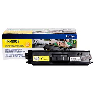 Image of Brother TN900Y Super High Yield Yellow Laser Toner Cartridge