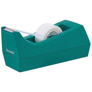 Image of Scotch Magic Tape C38 Dispenser + 1 Tape Roll - Turquoise
