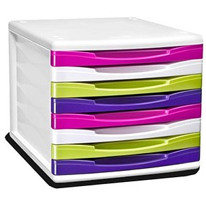 Image of Multicolour 8 Drawer Organiser - Made from Recycled Material