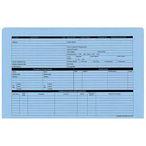 Image of Personnel Wallets Blue Ref PWB01 [Pack 50]