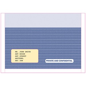 Image of Pegasus Compatible Payslip Mailer / Self-Seal / Ref MS29S / Pack of 500