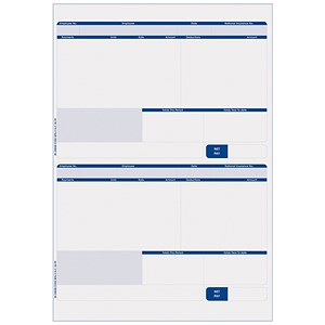 Image of Sage Compatible Payslip / 2 Per A4 Sheet / 1000 Payslips