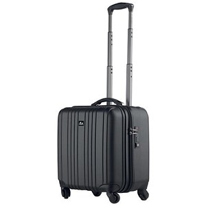 Image of Juscha Trolley Case with Detachable Business Case / TSA Lock / Nylon / Black