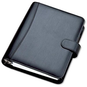 Image of Collins Chatsworth Organiser / Padded Leather / 2018 Diary For Insert Refills / 216x140mm / Black