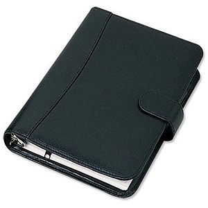 Image of Collins Balmoral Personal Organiser / Leather / 2017 Diary Insert For Refills / 172x96mm / Black